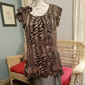 Gorgeous Vandana frilly animal print blouse